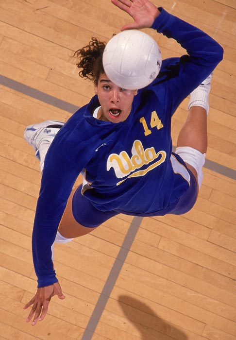 Williams went to UCLA on a volleyball scholarship, but she missed basketball. After some discussion, she convinced the coaches to let her play both sports. It worked out well. As a right side hitter in volleyball, Williams was a four-time All-America and the national player of the year in 1990 and 1992. She led the Bruins to two NCAA titles. In basketball, she was a two-time All-America. The Pac-10 named her its Female Athlete of the Decade.
