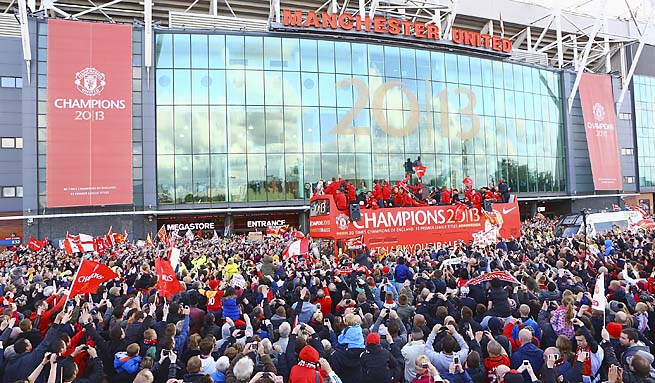 Manchester United fans celebrated another Premier League title and Alex Ferguson's career.