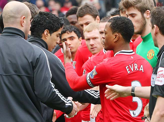 Luis Suarez and Patrice Evra were at the center of one of many racism controversies in England recently.