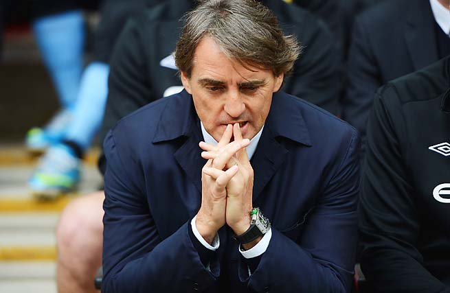 Roberto Mancini took Manchester City to an EPL title but failed in the Champions League.