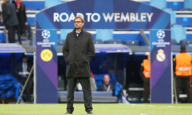 Jurgen Klopp and Borussia Dortmund are trying to win the club's second Champions League title.