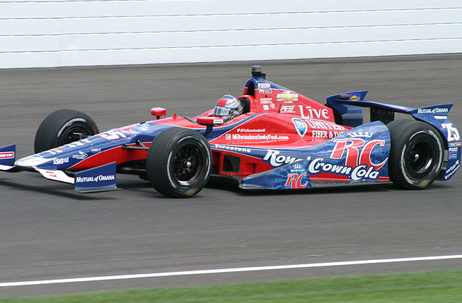 Marco Andretti posted a blistering lap of 225.100 mph in turning in the fastest practice round of the month.