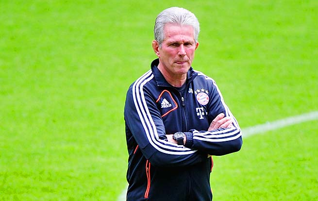 Jupp Heynckes will lead Bayern against Dortmund in the May 25 Champions League final.