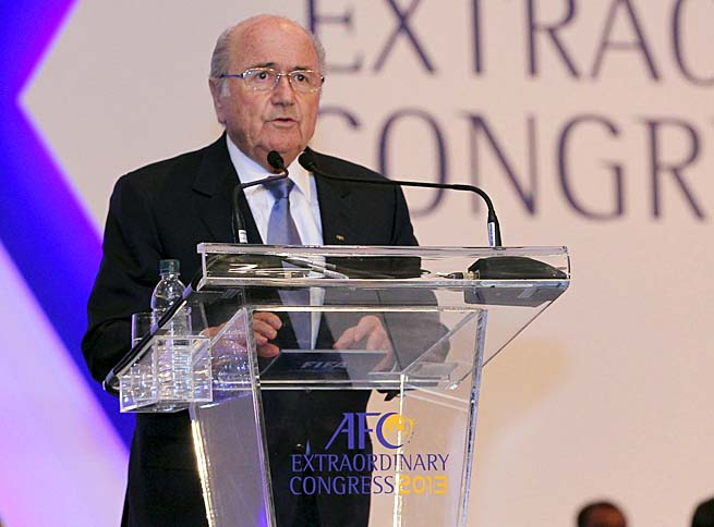 Sepp Blatter chimed in after AS Roma was fined 50,000 euros.