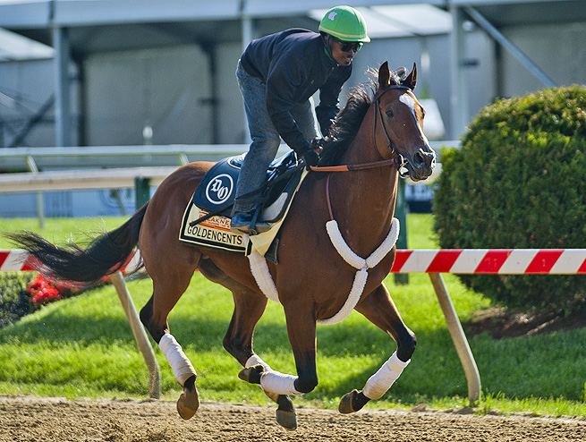 Goldencents finished 17th in the Kentucky Derby, so there's very little hype surrounding him before the Preakness.