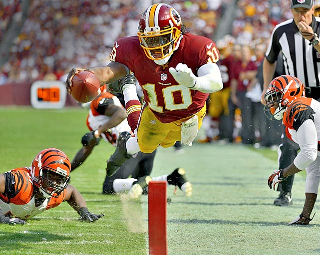 RGIII didn't get quite as large a deal as Luck, making $14.189 million for his debut season, but pair that with the $3.3 million he gets from an endorsement portfolio that is much larger than Luck's (Adidas, EA, Subway, Gatorade, Nissan, Castrol Oil, and EvoShield) and it's no wonder that only four pro athletes were between Griffin and #50 this year. If he adds some more deals, you'll see him in the Top 50 for years to come.