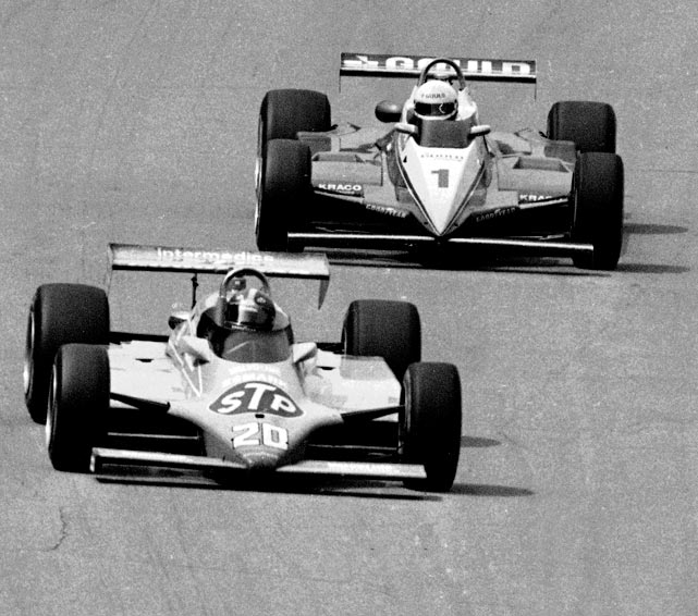 With 12 laps to go in 1982, Gordon Johncock led by 11 seconds over Rick Mears, but the handling on his race car started to give way. Mears charged after the race leader, cutting one-second a lap off his lead until the two cars were nose-to-tail with two laps to go. Mears nearly passed Johncock in the first turn on the white flag lap before Johncock closed the opening. Johncock held on to win by .16-seconds -- at the time the closest margin of victory in Indy 500 history.