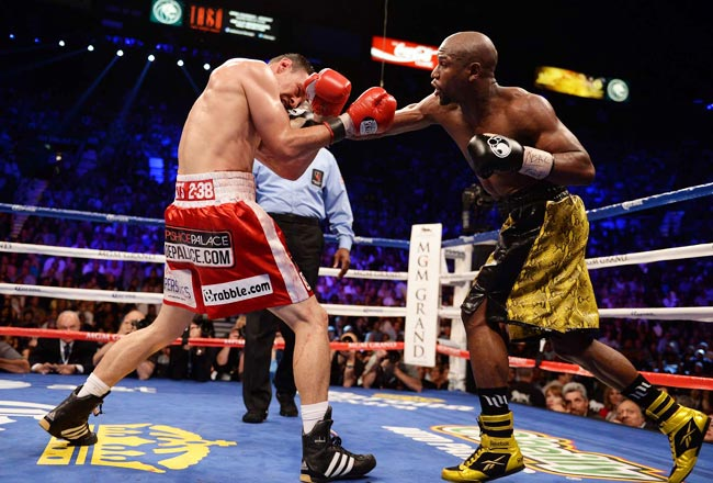Floyd Mayweather (44-0) defeated Robert Guerrero via unanimous decision on May 4.