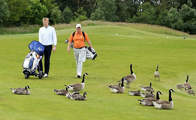Craig Goodfellow and Simon Edwards had plenty of company at The Belfry in Sutton Coldfield, England