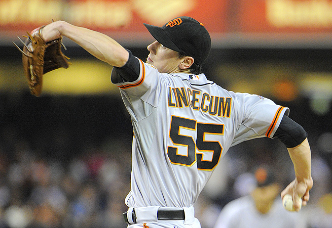 Tim Lincecum's O-Swing percentage is below the historical league level, so he's bound to tally more K's.