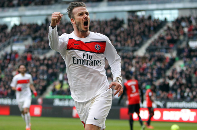David Beckham joined Paris Saint-Germain in February and will retire after PSG's game on May 26.