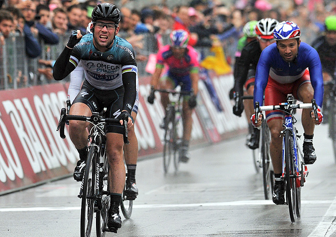 Mark Cavendish's victory was his third stage win in this year's Giro d'Italia.