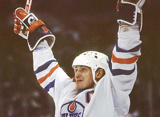 Here's your chance to own The Great One's gloves and distinctive broomball helmet.