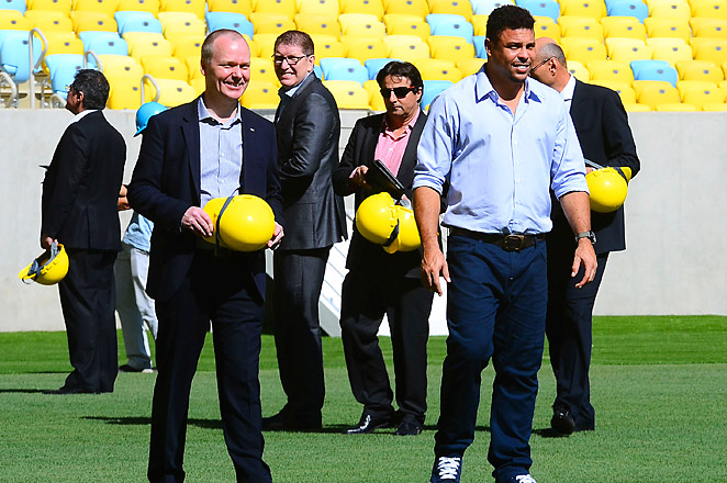 FIFA visited Brazil's Maracana stadium for the last time before it hosts June's Confederations Cup.