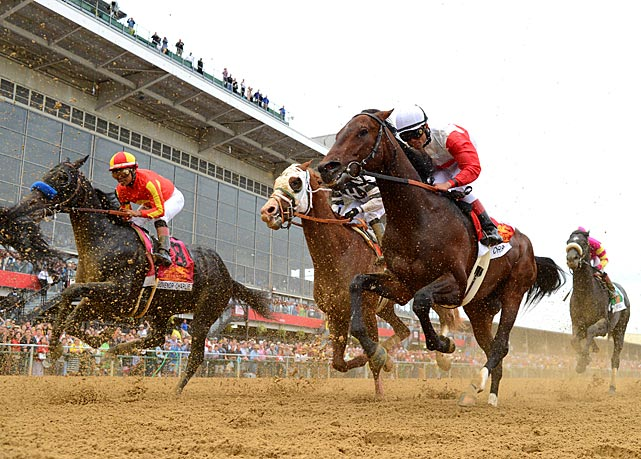 The race was held on an overcast windy day at Pimlico Race Course.