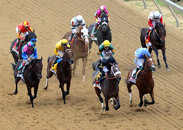 Unlike the Kentucky Derby, which featured 19 horses, only nine ran in the Preakness.