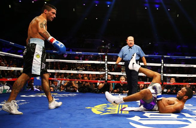 Lucas Matthysse had two knockdowns in the third round in his KO win over LaMont Peterson.