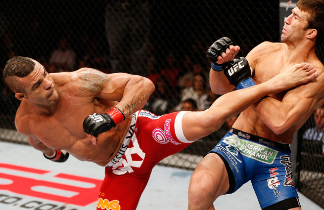 Vitor Belfort earned his second straight head-kick knockout by KO'ing Luke Rockhold on Saturday.