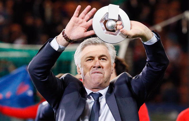 Last week, Carlo Ancelotti steered PSG to its first French league title since 1994.