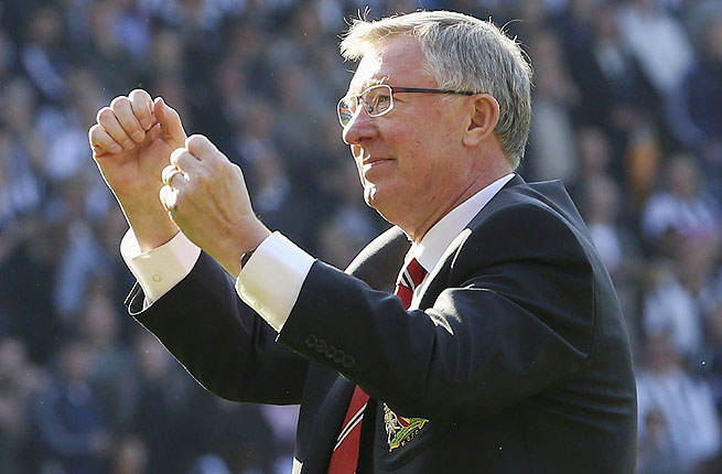 As Manchester United's coach, Alex Ferguson has won 38 trophies and 13 Premier League titles.