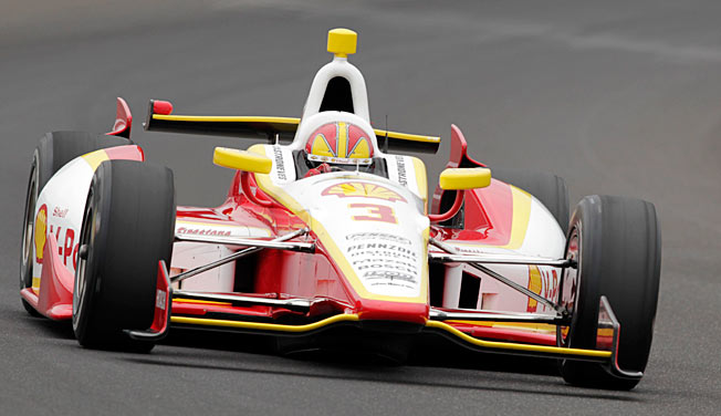 Team Penske driver Helio Castroneves has been working with four-time Indy 500 winner Rick Mears.