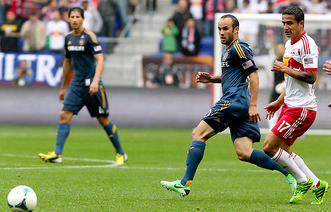 Landon Donovan looked fit during the Galaxy's loss to the Red Bulls this past weekend.