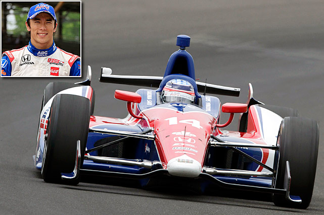 Sato drove in 91 Formula One races from 2002 to '08 with a best finish of third in the U.S. Grand Prix at Indianapolis in 2004. He switched to IndyCar in 2010 and joined A.J. Foyt Racing this season. His victory at Long Beach in April was the first by a Japanese driver in IndyCar history and he followed it with a second place finish at Sao Paulo, Brazil, to take the series points lead coming into Indianapolis. A year ago at Indy, he led three times for a total of 31 laps and was running second on the final lap when he challenged Dario Franchitti for the lead in Turn One, but spun and hit the wall. <italics>-- Tim Tuttle</italics>