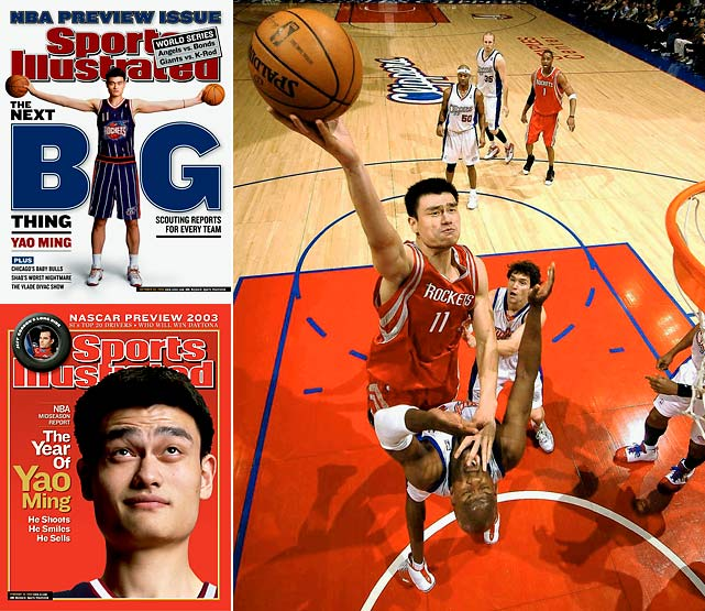 An 8.9 percent chance was enough for the Rockets to leapfrog four teams and win the Yao Ming sweepstakes. Yao was productive when healthy, but the healthy part didn't happen nearly as much as Houston would have hoped. The 7-6 center retired in July 2011 after nine seasons in which he averaged 19 points, 9.2 rebounds and 1.9 blocks.