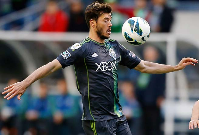 Brad Evans has one goal and two assists in seven matches for the Sounders this season.
