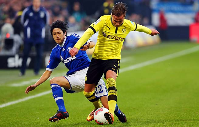 Mario Goetze scored 10 goals for Borussia Dortmund in the Bundesliga season.