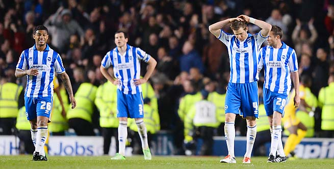 Brighton lost 2-0 in their second leg with Crystal Palace, getting eliminated.