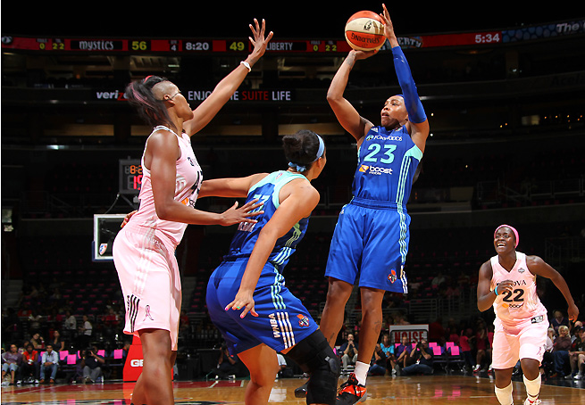 Cappie Pondexter hopes the Liberty's new coach Bill Laimbeer can help improve their defense.