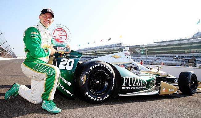 Ed Carperner's buggy hit a four-lap average of 228.762 mph while taking the pole for the Indy 500.
