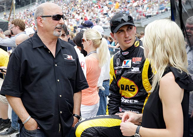 Driving for his father, Bobby (left), Graham Rahal has the ability to make a run from deep in the field.