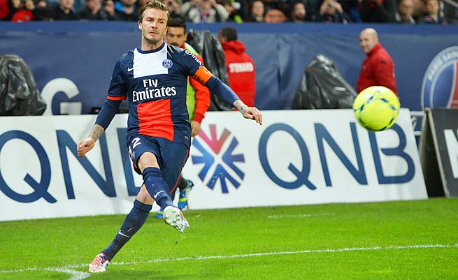 David Beckham won the French league title in his last professional season with PSG.