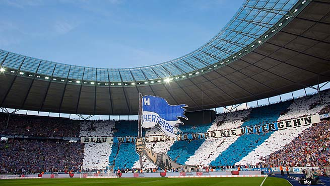 Berlin's Olympic Stadium hosted the 1936 Jesse Owens Olympics.