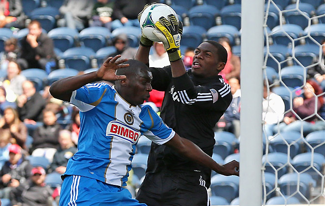 Bakary Soumare (left) has appeared in three games with the Union so far in 2013.