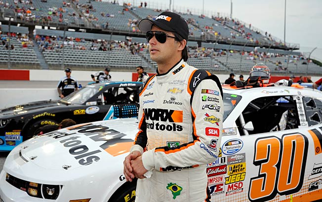 Driver Nelson Piquet Jr. made light of his violent confrontation with Brian Scott of Childress Racing.