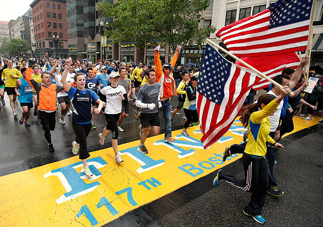 Thousands of runners who were initially unable to complete the Boston Marathon did so on Saturday.