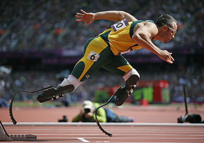 Oscar Pistorious, who is accused of killing girlfriend Reeva Steencamp, ran for South Africa in the 2012 Olympics.