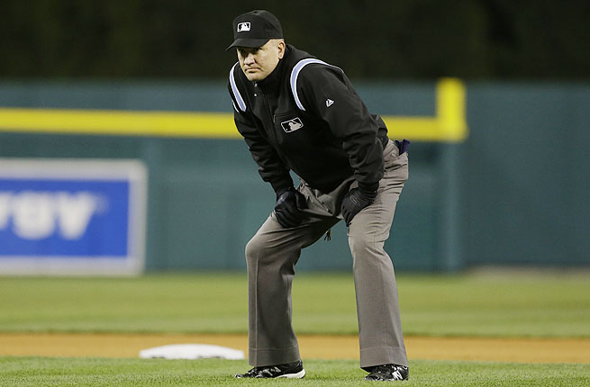 Umpire Jeff Nelson said the odd double-play turn was a play he'd never seen in 25 years in baseball.
