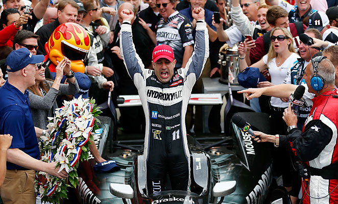 Tony Kanaan captured his first Indianapolis 500 victory in 12 attempts with a thrilling win on Sunday.
