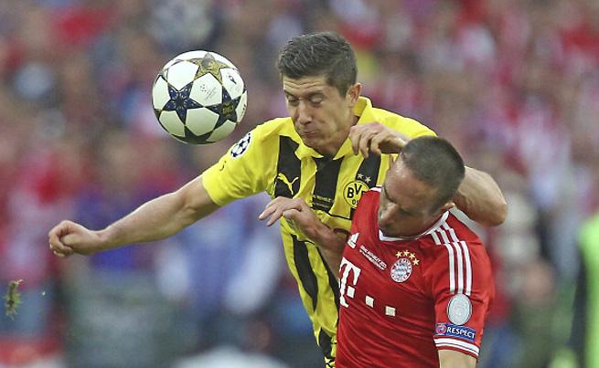 Star forward Robert Lewandowski will reportedly join Franck Ribery at Bayern Munich next season.
