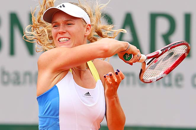 No. 10 Caroline Wozniacki has gotten past the third round of the French Open once.