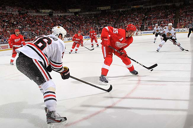 The Blackhawks can catch a break if Detroit defenseman Niklas Kronwall is hindered by his hand injury.