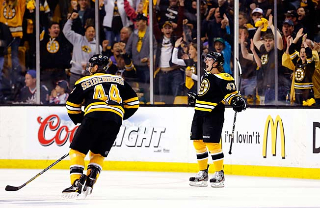 Rookie sensation Torey Krug (right) may force Bruins coach Claude Julien into tough lineup decisions.