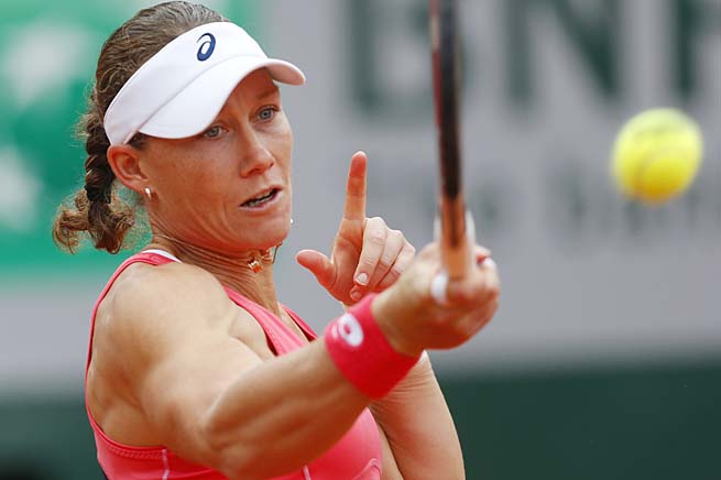 Sam Stosur will play Kristina Mladenovic or American Lauren Davis in the second round.