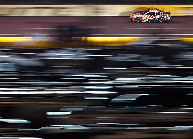 Kevin Harvick races during the Coca-Cola 600 at Charlotte Motor Speedway.