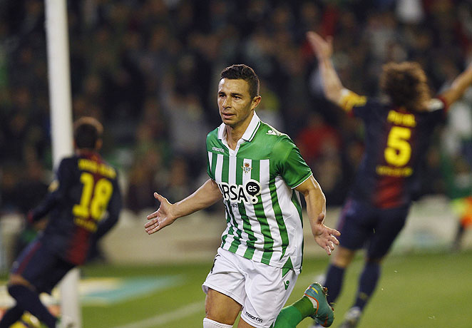 Ruben Castro, who led Real Betis in goals this season in La Liga, was arrested on suspicion of assault.