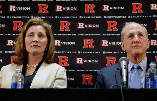 Rutgers hired Julie Hermann as its athletic director despite a questionable and controversial work history.